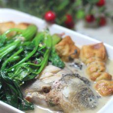 菠菜煲鱼汤的做法