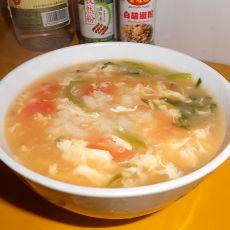 虾油菠菜疙瘩汤