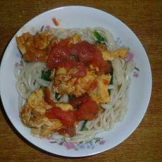 西红柿鸡蛋菠菜面
