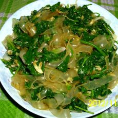凉拌菠菜宽粉的做法