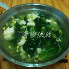 菠菜豆芽豆腐汤
