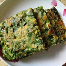 玉米面菠菜饼