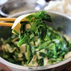 凉拌菠菜豆腐皮