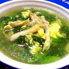 菠菜平菇蛋汤