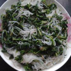 芥末菠菜拌粉丝