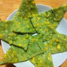 菠菜玉米饼