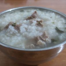 菠菜瘦肉粥的做法