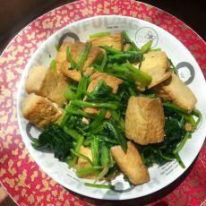 菠菜炒豆腐的做法