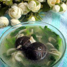 香菇虾皮菠菜汤