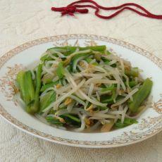 银芽炒菠菜