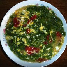 西红柿鸡蛋菠菜汤面