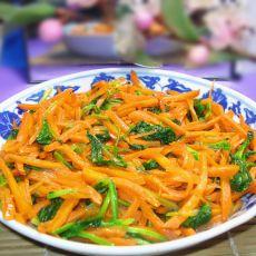 胡萝卜炒菠菜的做法