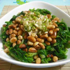 凉拌多味菠菜花生米