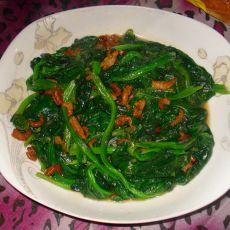 海米炒菠菜