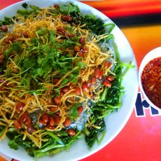 蒜泥红油菠菜