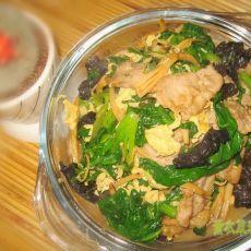 菠菜木须肉