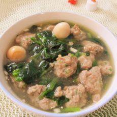 肉丸菠菜汤