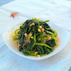 凉拌菠菜粉丝的做法