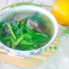 菠菜猪血汤的做法