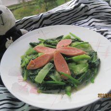 丝瓜炒菠菜