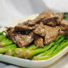 猪肝盖菠菜