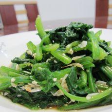 虾皮拌菠菜