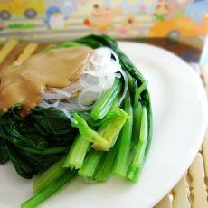 麻酱粉丝菠菜