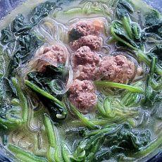 牛肉菠菜粉丝汤