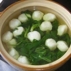 菠菜鱼圆汤