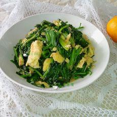 青蒜菠菜炒鸡蛋
