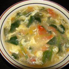 菠菜鸡蛋西红柿汤的做法