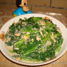 菠菜花生拌粉条