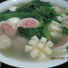 菠菜贡丸汤