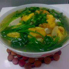 菠菜鸡蛋豆腐汤的做法