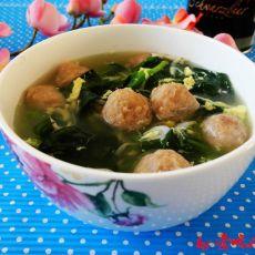菠菜肉丸蛋花汤