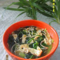 银鱼菠菜羹的做法