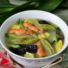 河虾菠菜面疙瘩