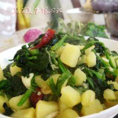 菠菜炖土豆的做法