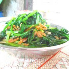 菠菜炒虾米
