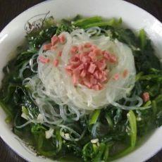 芥末菠菜的做法
