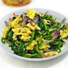 菠菜炒蛋的做法