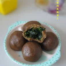 菠菜地瓜面团子