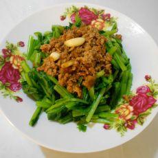 葱香肉末菠菜的做法