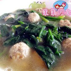 菠菜肉丸汤的做法