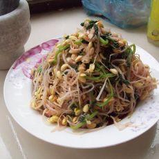 凉拌豆芽和菠菜