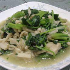 金针菇炒菠菜