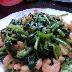 菠菜虾仁的做法