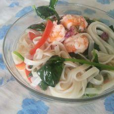 鲜虾菠菜面