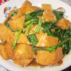 豆腐炒菠菜