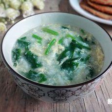 蛋花菠菜粥